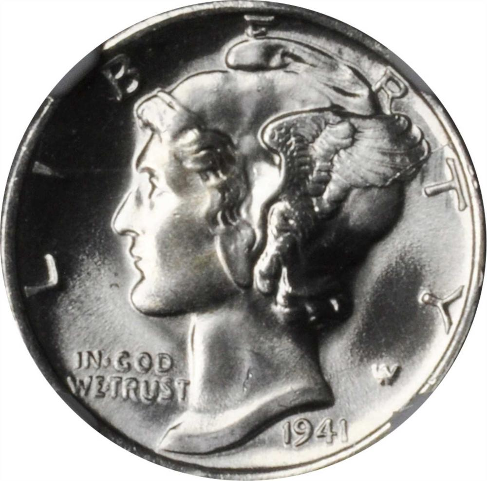 Lot 91190 Of 5 Gem Mint State Mercury Dimes NGC