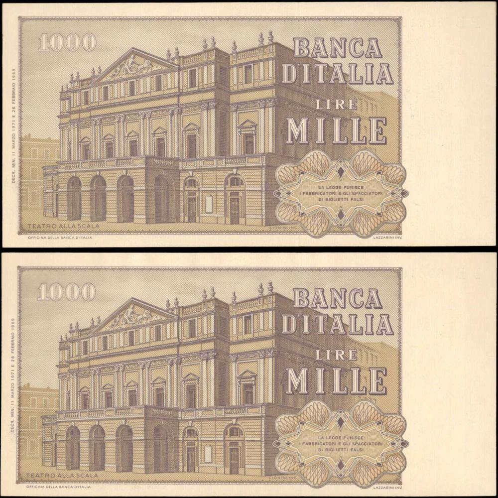Italy Banca Ditalia 1000 Lire 1969 P 101a Uncirculated