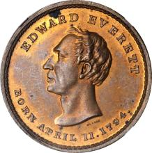 1860 John Bell. DeWitt-JBELL 1860-4. Copper. 31 mm. MS-64 BN (NGC).