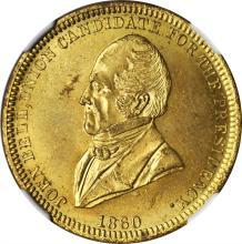1860 John Bell. DeWitt-JBELL 1860-7. Brass. 28 mm. MS-64 (NGC).