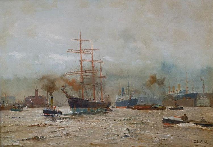 John Gleich Memel 1879- Hamburg harbour
