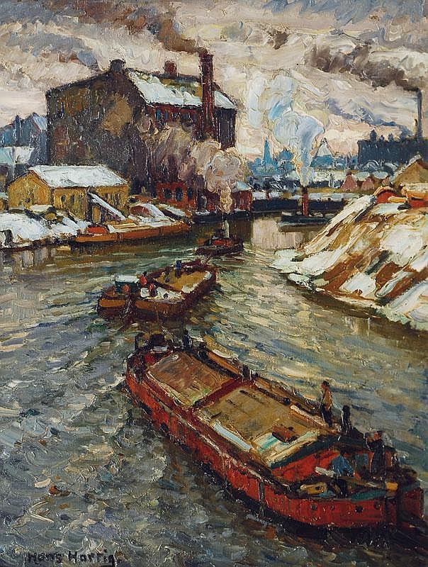 Hans Hartig Carvin 1873-Berlin 1936 River Spree