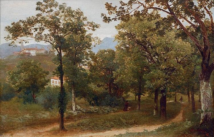 Valentin Ruths Hamburg 1825-Hamburg 1905 Italian