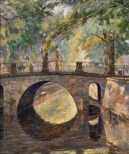 Hans Zank (Berlin 1889 - Berlin 1967). Canal in Potsdam.