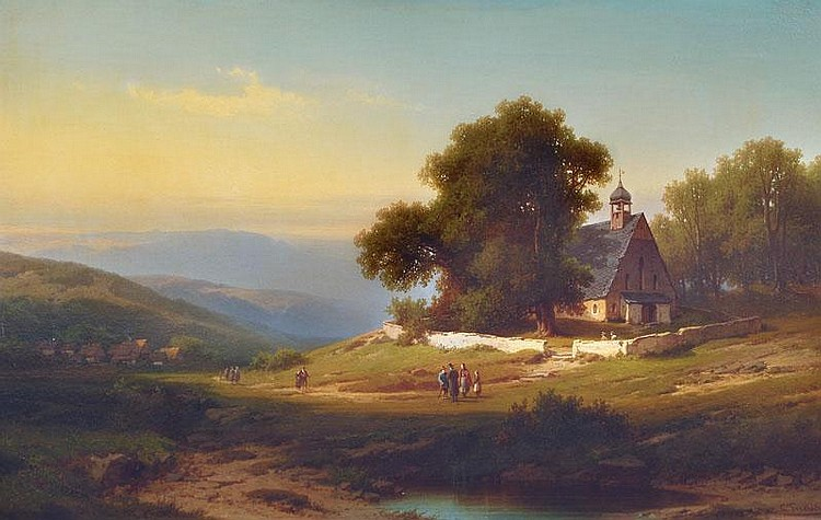 Sunday Afternoon near Stolberg/Harz, Carl Triebel,