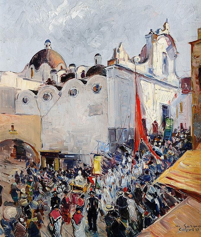 Procession infront of Santo Stefano on Capri,