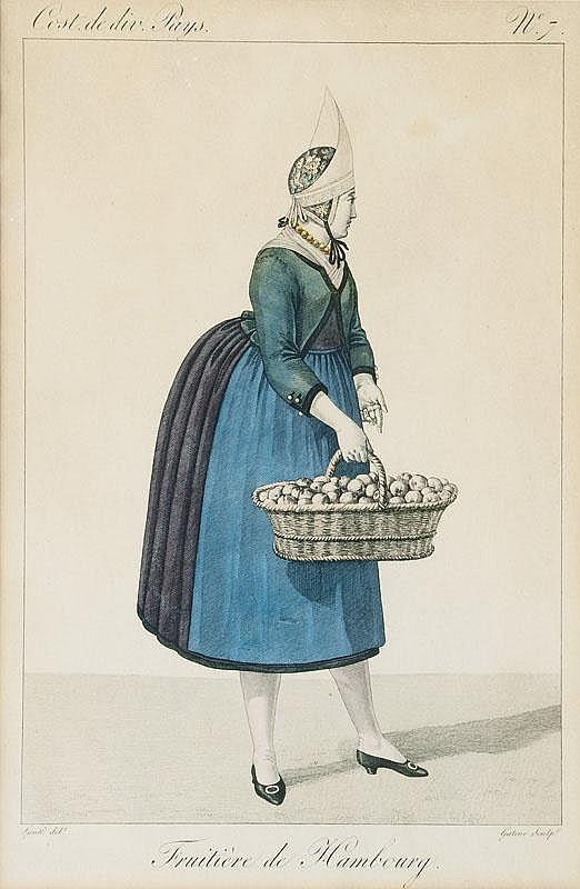 Three prints: Costumes de Hambourg, Georges
