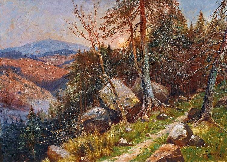 Moonrise in the Harz, Eilmar von Eschwege,