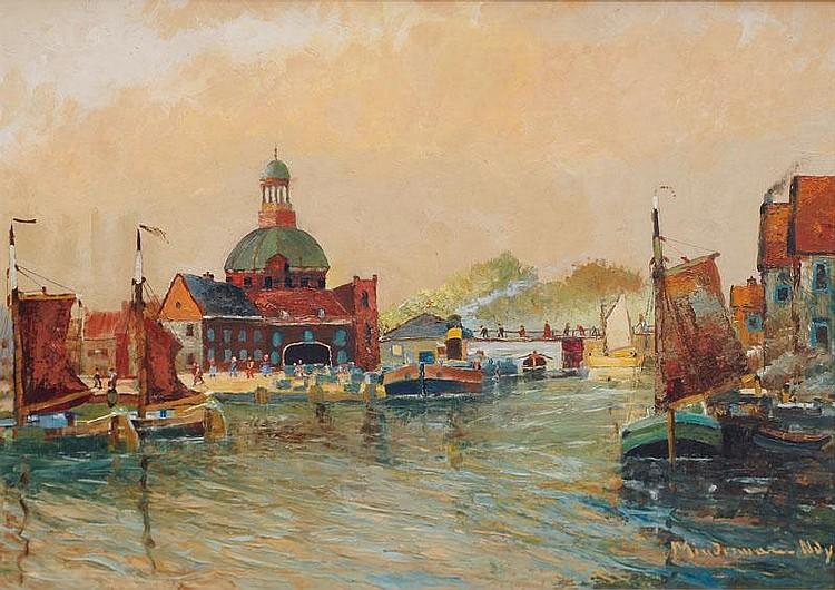 Frisian Fishing Port, Heinz Mindermann, (Bremen