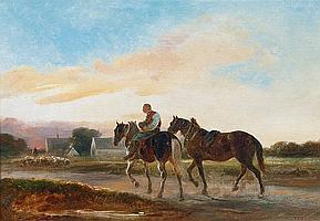 Bach, Alois. Eschlkam 1809 - München 1893 Horseman returning Home