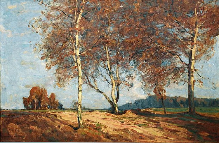 Feldmann, Wilhelm.  Lüneburg 1859 - Lübeck 1932  Bright Autumn Day
