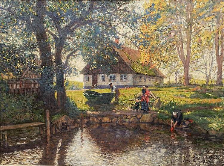 Rehder, Julius.  Flensburg 1861 - Essen 1955  Summer in Sørup