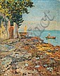 Early Light in Novigrad, Istria County, Ugo Flumiani, Click for value
