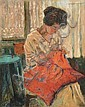 The red Pillow, Julius Müller-Maßdorf, Click for value