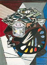 Still Life with Palette and Pipe