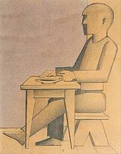 Seated Man facing left