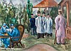 Garden of the Military Hospital, Fritz Friedrichs, Click for value