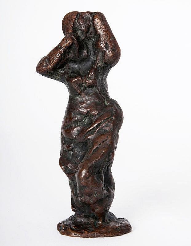 A small bronze figure 'draped figure'