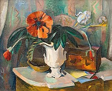 Ahlers-Hestermann Friedrich, Hamburg 1883  -  Berlin 1973   Still Life with Flowers