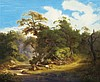 Idyllic Forest with Woodchoppers, Julius Bakof, Click for value