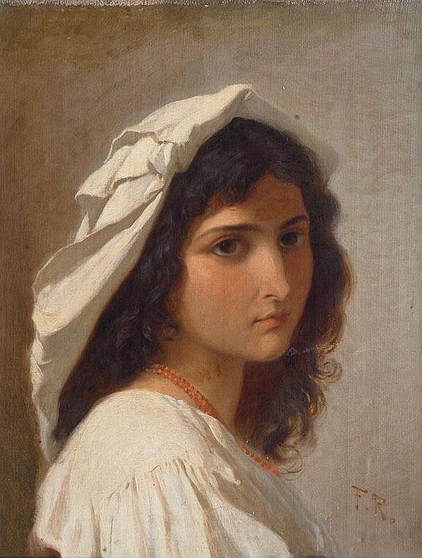 Rothbart, Ferdinand Roth 1823 - München 1899  Portrait of Angelina Pascucci