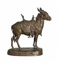 A bronze figure 'Âne Marocain'