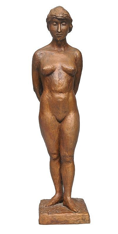 A large bronze figure 'Female nude'