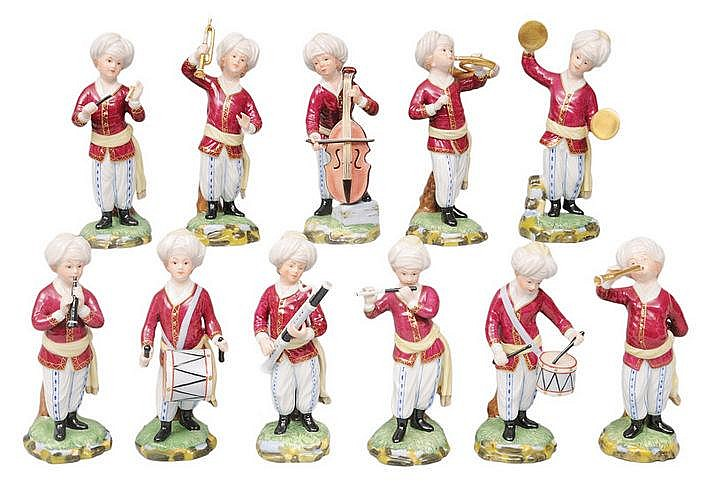 A set of 11 figurines 'The Turkish Orchestra'
