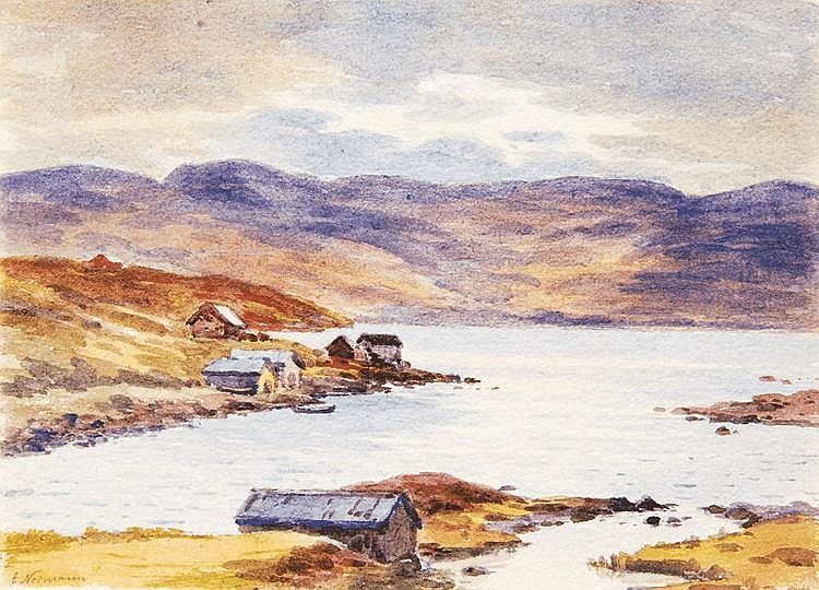 Pair of Watercolours: Norwegian Landscapes