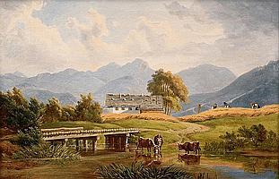 Grain Harvest in the Alps