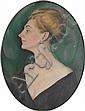 Portrait of an elegant Lady, August Heitmüller, Click for value
