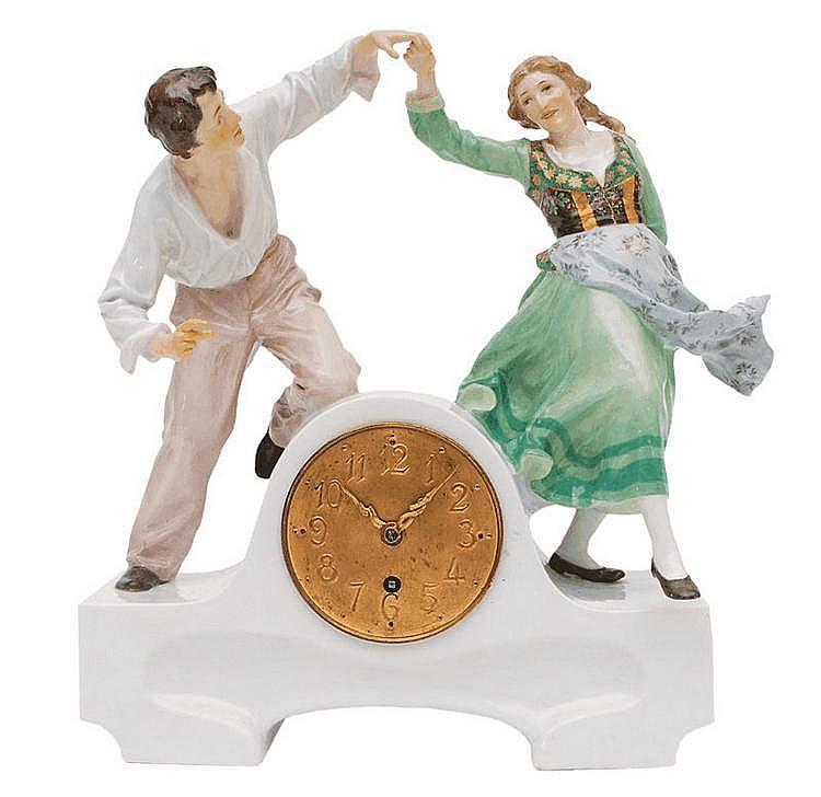 An Art Nouveau figure of a dancing couple