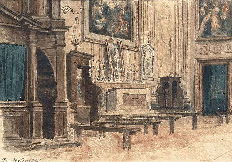 Interior of a roman Church