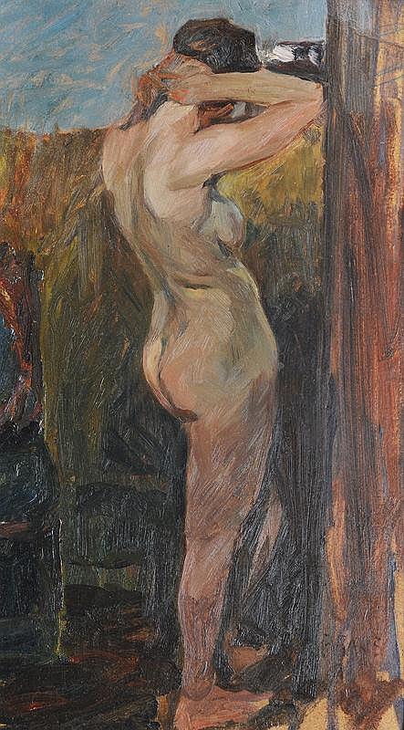 Gans, Paula  Hronow/Prag 1883 - Hamburg 1941   Standing Nude