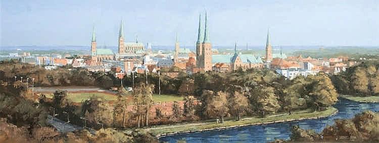 Panoramic View of Lübeck