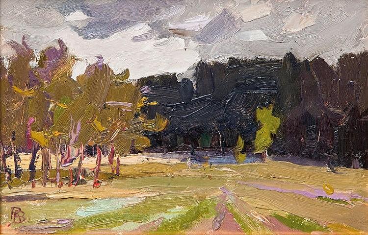 Landscape in Violet and Green
