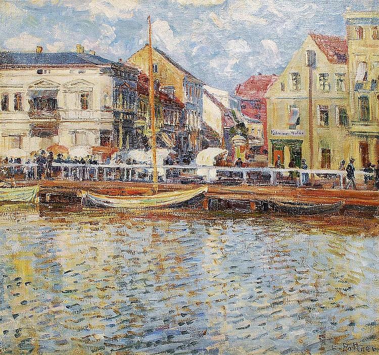 Emil Pottner Salzburg 1872-1942. A market in