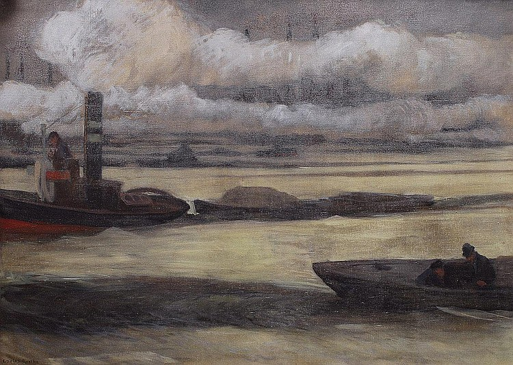 Carlos Grethe Montevideo 1864-1913. Barges in the