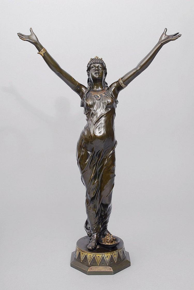 Jean Garnier Monzeuil 1853-1910. A bronze figure