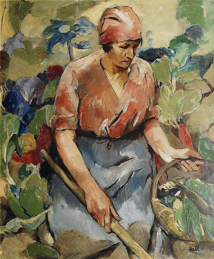 Willy Habl Engeln 1888-1964. A woman in the garden