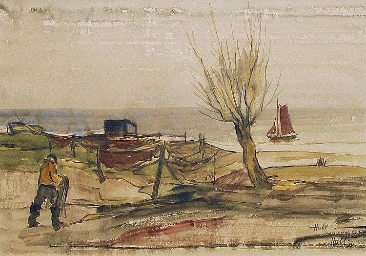 Willy Habl Engeln 1888-1964. At the coast
