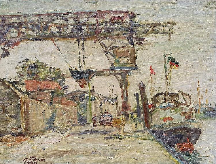 Albert Feser Hamburg 1901-1993. The harbour