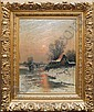Johann Jungblut Saarburg 1860-1912. A winter, Johann (1860) Jungblut, Click for value