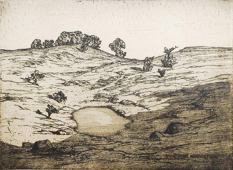 Paulsen Ingwer 1883 - 1943 Schleswig Etching, 32 x