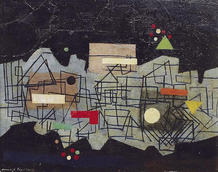 Fiedler Arnold 1900 - 1985 Hamburg Oil/cardboard,