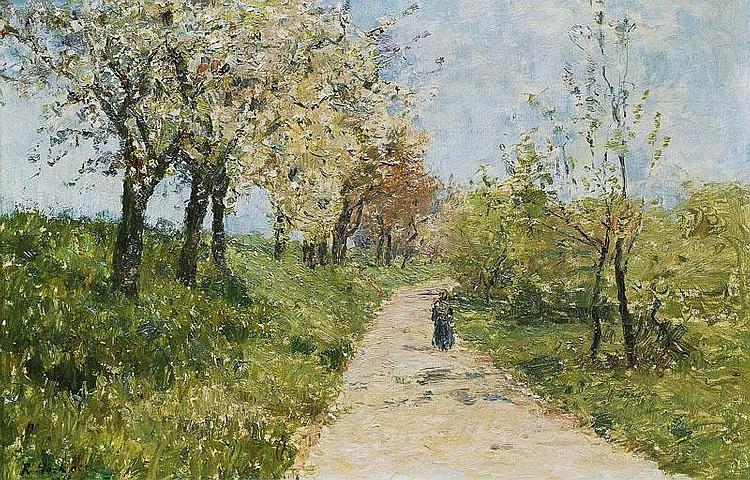 Höckner Rudolf 1864 - 1942 Taking a walk