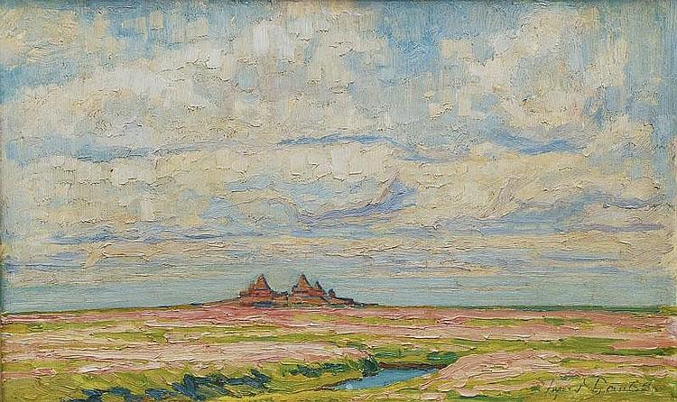 Paulsen Ingwer 1883 - 1943 Holm Hooge Oil/wood, 38