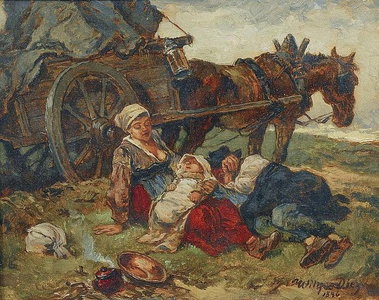 Diez Wilhelm von 1839 - 1907 Taking a rest