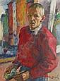 Becker Claus 1902 - 1983 Self-Portrait Oil/canv.,, Claus (1902) Becker, Click for value