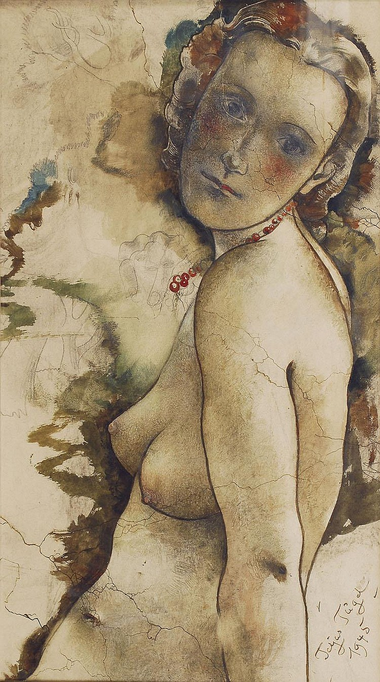 Tügel Otto Tetjus 1892 - 1973 A female nude Mixed